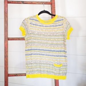 Anthropologie short sleeve summer/spring sweater